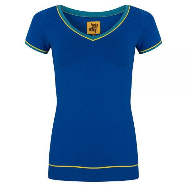 Shirt Blauw V-Hals