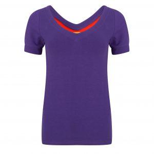 Shirt basis paars
