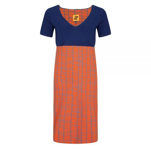 #107 Jurk koker oranje