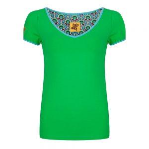 #94 Shirt groen V-hals