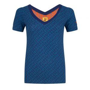 #96 Shirt blauwe krullen
