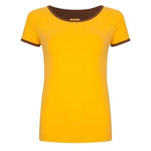Halsoverkop: Shirt geel