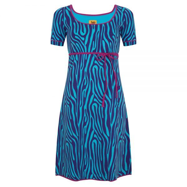 zebra print jurk van Halsoverkop