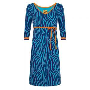 Zebra print jurk Halsoverkop