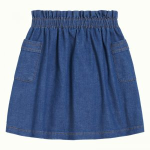 Petit Louie: Paperbag Skirt Chambray