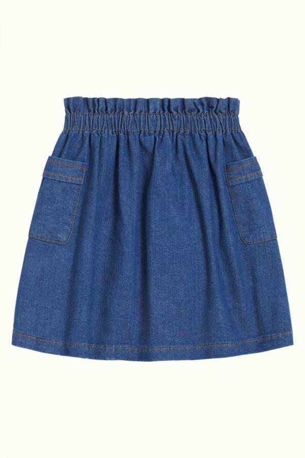 Petit Louie: Paperbag Skirt Chambray