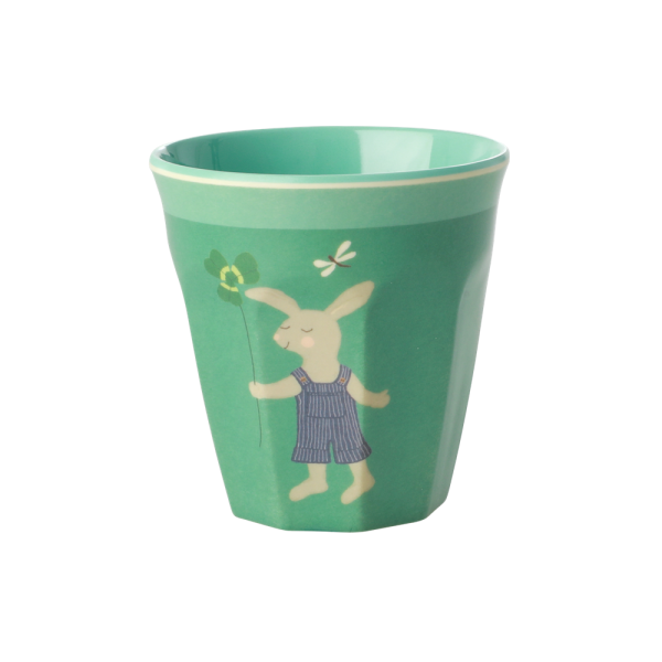 SMALL MELAMINE KIDS CUP - BUNNY PRINT