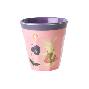 SMALL MELAMINE KIDS CUP - BUNNY PRINT