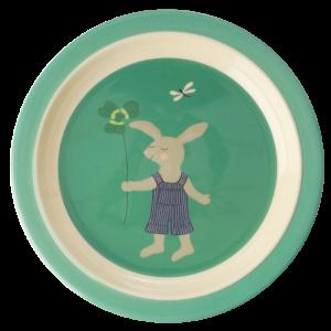 MELAMINE KIDS PLATE - BUNNY PRINT