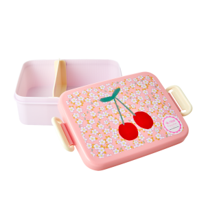 LARGE LUNCHBOX - SMALL FLOWERS AND CHERRY PRINT