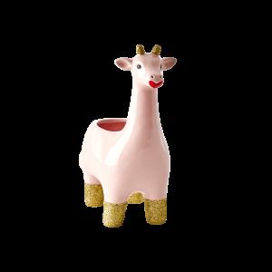 bloempot giraf roze