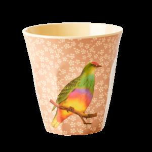 Vintage vogel beker melamine RICE