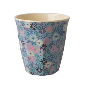 The classic and absolutely indispensable medium RICE melamine cup with 'Small Flower' print