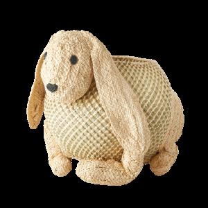 Raffia konijnen mand van RICE