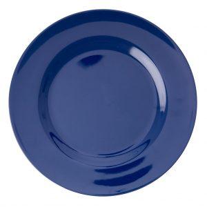 Groot melamine bord blauw RICE