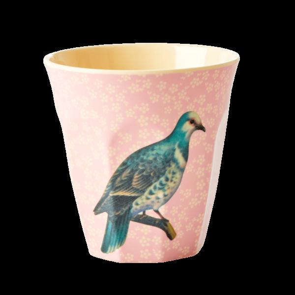 Vintage vogel beker roze