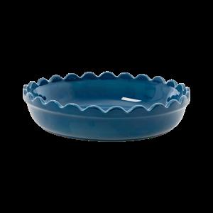RICE: Small Round Stoneware Pie Dish
