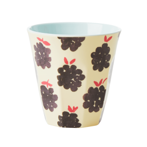 RICE melamine cup with cute Blackberry print