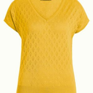 Lace Knit Top Oyster
