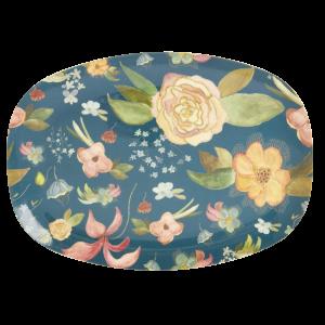 RICE: Rechthoekig melamine bord - Selma's Fall Flower print MELPL-SEFF