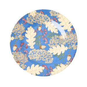 RICE: Rond melamine lunch bord - Autumn and Acorns Print