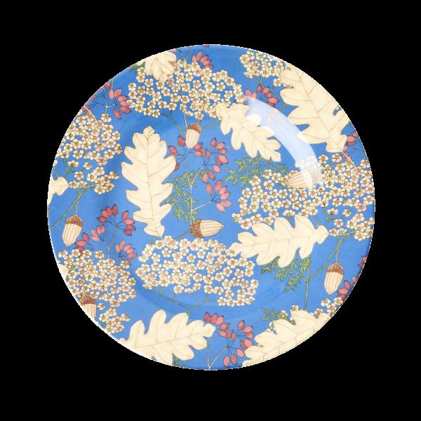 RICE: Rond melamine lunch bord - Autumn and Acorns Print