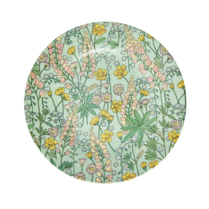RICE: Rond melamine lunch bord - Lupin print MESPL-LUPI_1