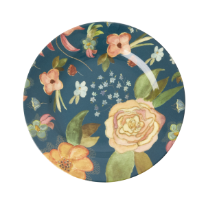 RICE: Rond melamine lunch bord - Selma's Fall Flower Print