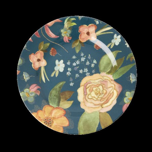 RICE: Rond melamine lunch bord - Selma's Fall Flower Print