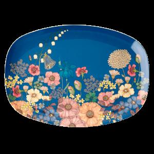 Bloemen collage print bord