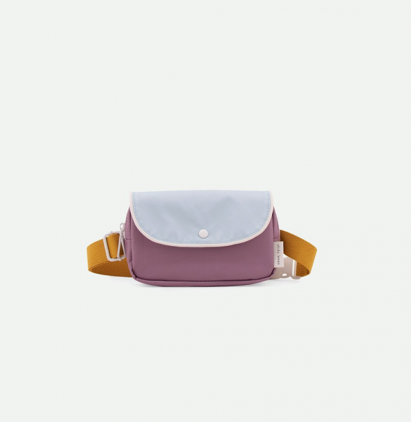 Sticky Lemon: Fanny pack wanderer | pirate purple + sky blue + caramel fudge
