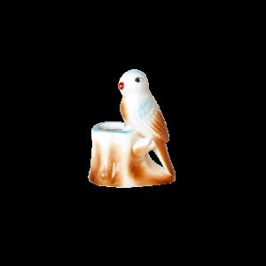 RICE: Porseleinen vogel vaasje