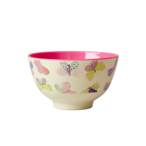 RICE: Small Melamine Bowl - Butterfly Print