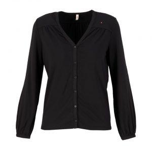 Blutsgeschwister: Logo romance blouse misty black