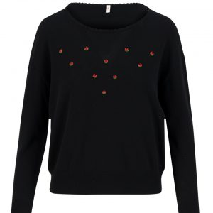 Blutsgeschwister: Rosebud pullover romantic black