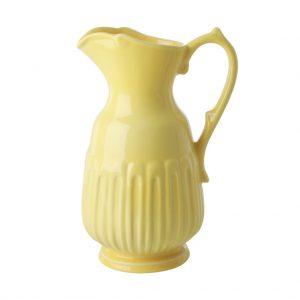 RICE: Medium Ceramic Jug Super gave, gele kan! Van keramiek. Prachtig!