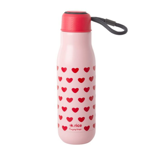 RICE: Stainless Steel Bottle - Sweet Hearts Print