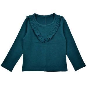 BA*BA WEAR: Ruffle shirt PETROL