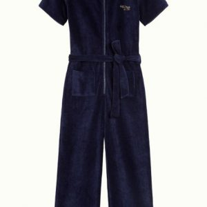 Petit Louie: Zip Jumpsuit Rib Velours