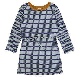 BA*BA WEAR: Dress long sleeve RASTER DRESLS/RAS/W20 Heerlijk jurkje in een super leuke print! Gemaakt van wat dunnere jogging. Super! 92% BIO katoen | 8% elastan