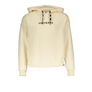 Deze stoere hoodie heeft aan de onderkant een elastiek waarmee je de sweater wat strakker kan maken. 65% polyester | 35% katoen
