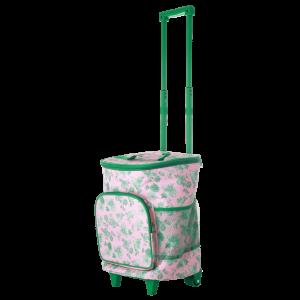 RICE: Koel tas op wielen - Green Rose Print