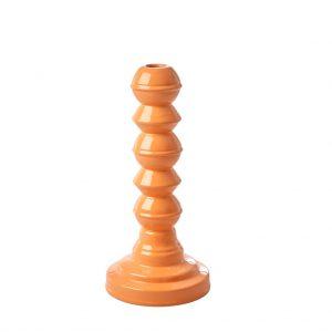 Prachtige, houten kaarsen houder van RICE. Door de emaille laag, glimt ie en krijgt ie een chique uitstraling! WAUW! Hoogte: 27,5 cm