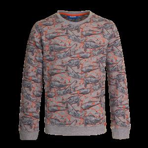 Stoere sweater van SOMEONE. All over print van vliegtuigen. Lekker stoer! Sweater is heerlijk zacht aan de binnenkant! 85% katoen | 15% viscose
