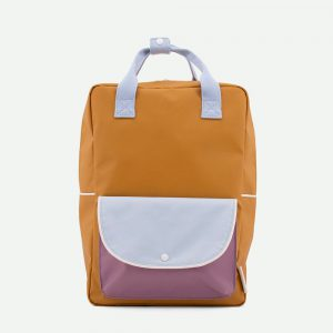 Sticky Lemon: Large backpack wanderer | caramel fudge + sky blue + pirate purple