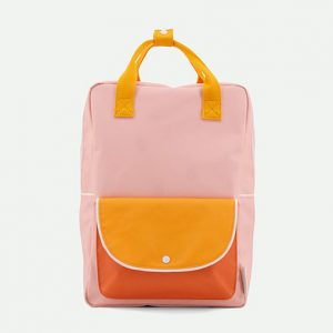 Sticky Lemon: Large backpack wanderer | candy pink + sunny yellow + carrot orange
