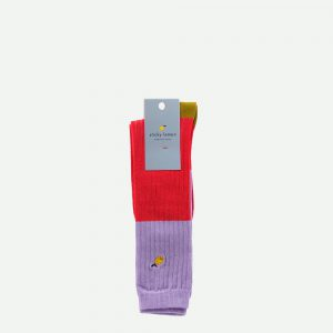 Sticky Lemon: Kniekousen |glitter | lavender + sporty red