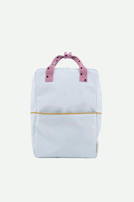 Sticky Lemon: Large backpack freckles | sky blue + pirate purple + caramel fudge