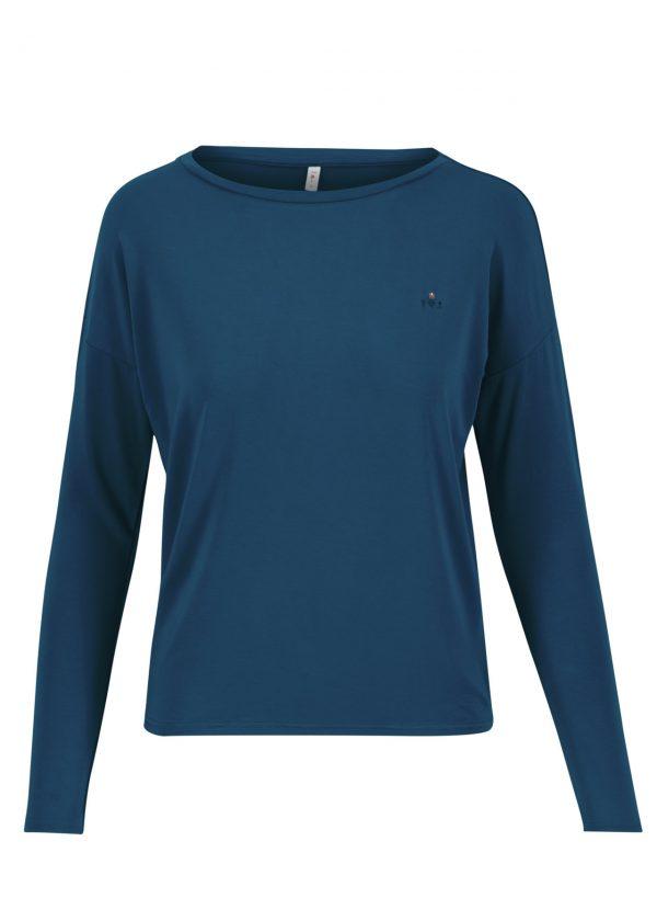 Blutsgeschwister: Basic Shirt logo flow slow longsie harbor blue