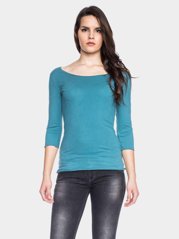 LS Caja GOTS OC TEAL Heerlijk shirt met 3/4 mouwen. Gemaakt van BIO katoen. Heb je er eenmaal eentje, dan wil je alle kleuren. Super fijn shirt, voor een mooie prijs! De perfecte basic. 100% BIO katoen | GOTS gecertificeerd